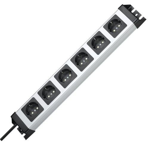 """Kopp 6-fach Steckdosenleiste """"POWERversal 226720018"""" (90° gedrehte Schutzkontaktsteckdosentöpfe, Schlag- und bruchfest) [Amazon-Prime]"""