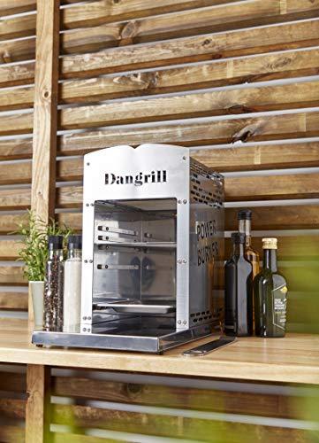 Dangrill 800 Grad Gasgrill ( Oberhitze, Grillrost mit Handgriff und Abtropfschale, Keramikbrenner, Piezo-Zündung, Edelstahl Gehäuse )