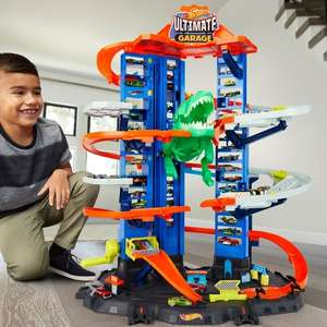 Hot Wheels Megacity Parkgarage mit T-Rex-Angriff, Smythtoys und Amazon