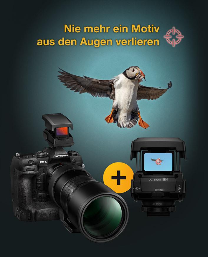 Olympus OM-D E-M1X Kamera kaufen und EE-1 Punktvisier gratis erhalten