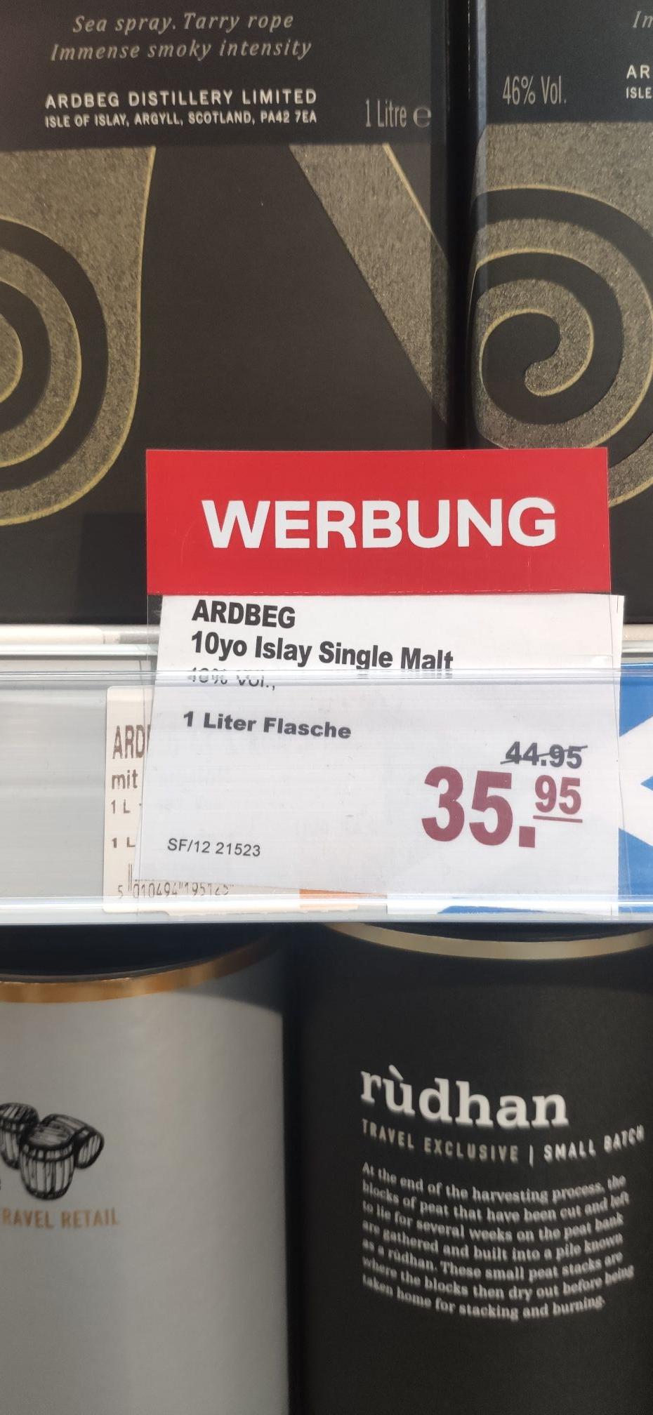 [Düsseldorf Flughafen - Ringeltaube] Lokal? Ardbeg Ten 1.0 Liter