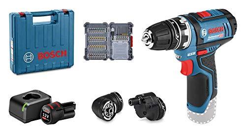 [Amazon.it] Bosch Professional 12V System Akku Bohrschrauber GSR 12V-15 FC (1x2.0 Ah Akku, Ladegerät, 3x Bohrfutteraufsätze, 40tlg. Zubehör)