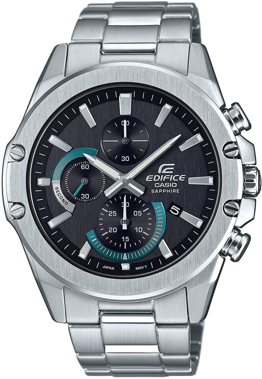 Casio Edifice Analog-Uhr EFR-S567 (Saphirglas, Edelstahl, Chronograph, Datumsanzeige, Stoppfunktion, Quarz, wasserdicht bis 10 bar)