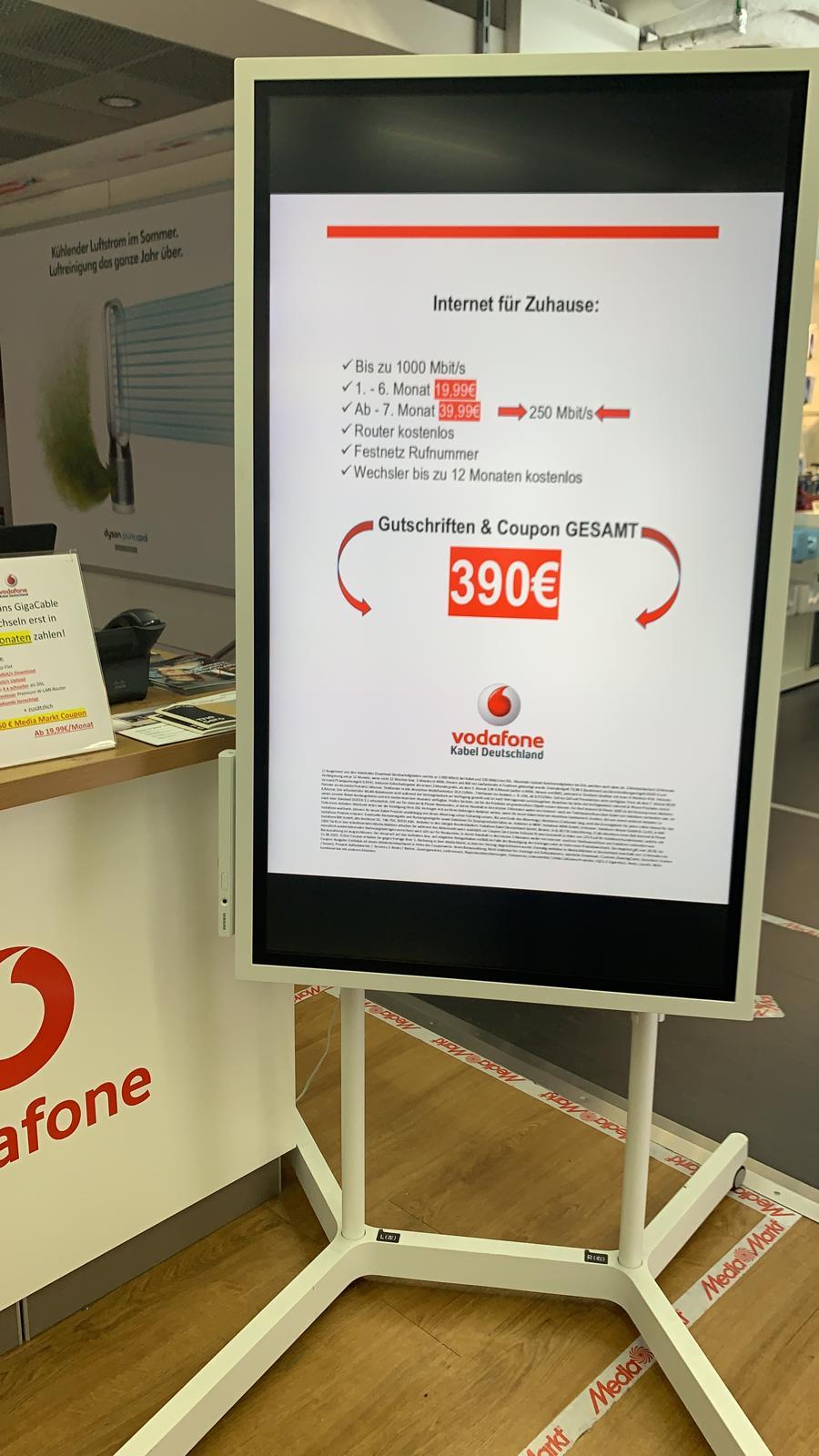 (lokal) Media Markt Ludwigsburg: 1Gbit Vodafone Internet und Telefon + 220€ MM Coupon