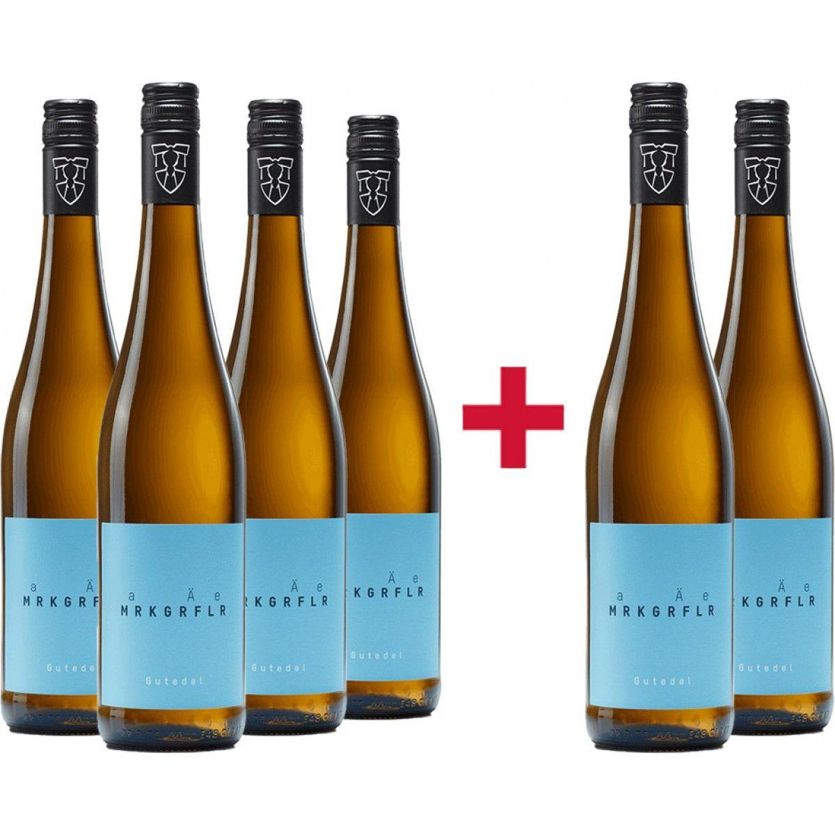 Markgräfler Winzer Gutedel 2019 Probierpaket 6 Flaschen