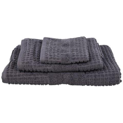 3-teiliges Handtuch-Set (100 % Baumwolle, Mit Riffelmuster, Duschhandtuch, Handtuch, Waschlappen) [ACTION Märkte]