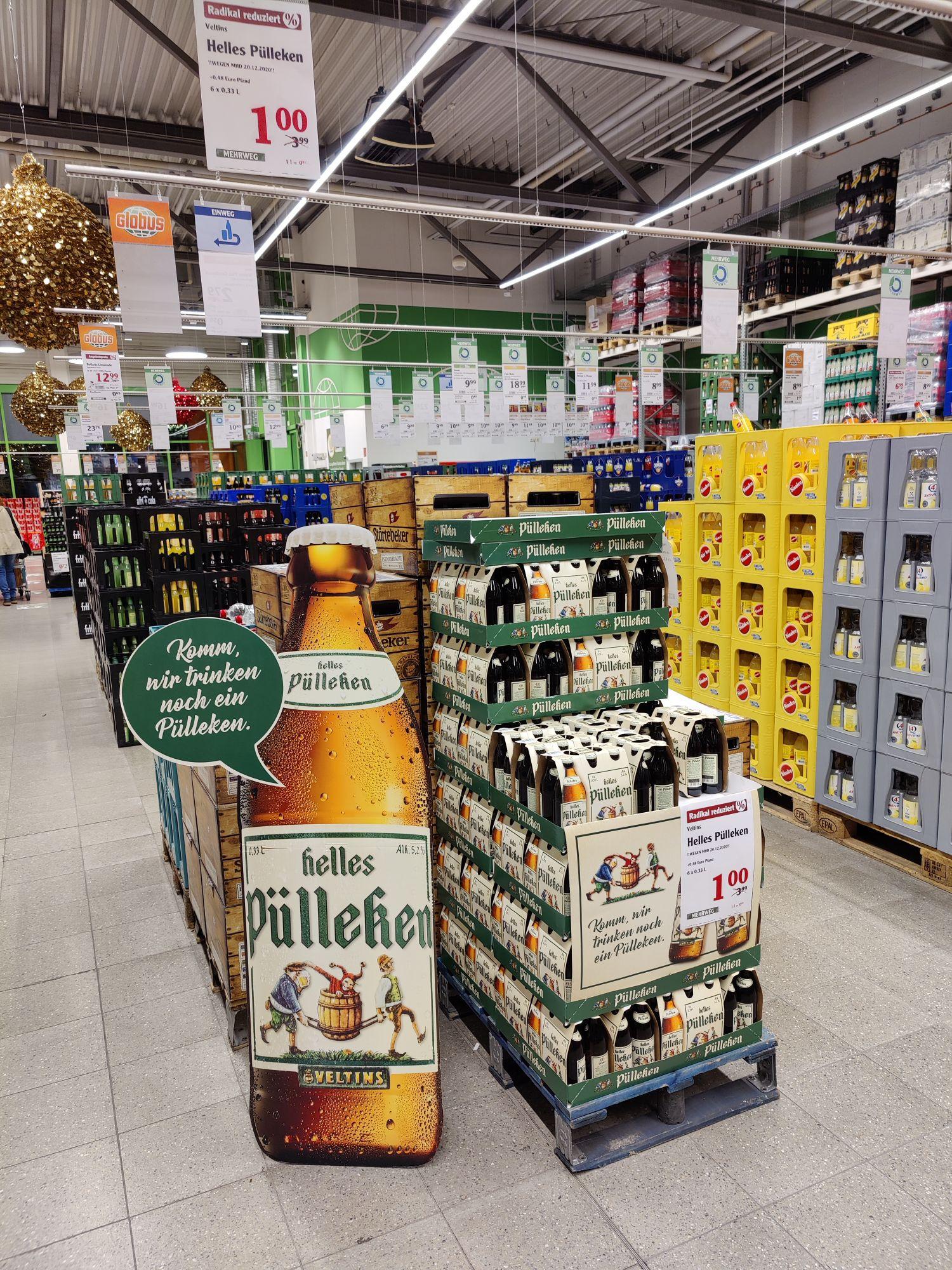 Helles Pülleken Lokal! Globus Ludwigshafen MHD 20.12.2020