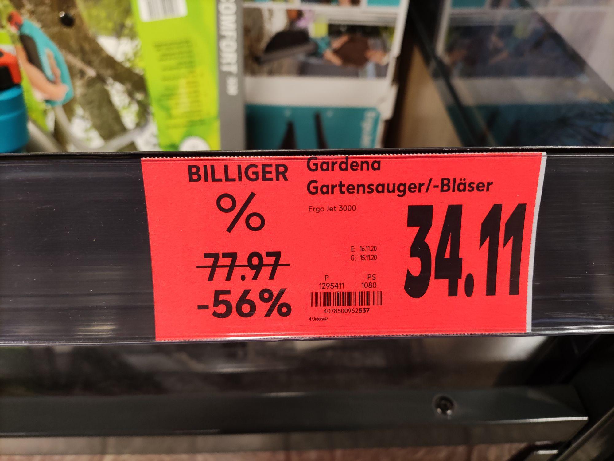 [Lokal ABG/bundesweit?] Gardena-Ausverkauf - Laubsauger/Heckenschere/Bügelsäge/Beil