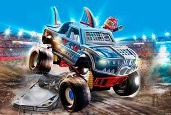 Playmobil 70550 Stuntshow Monster Truck Shark und 70549 Monster Truck Horned, Mifus
