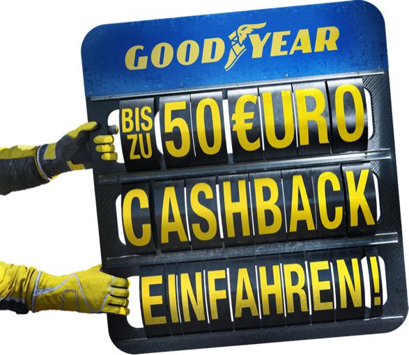 Bis zu 50 Euro Cashback beim Kauf von 4 Goodyear PKW Reifen