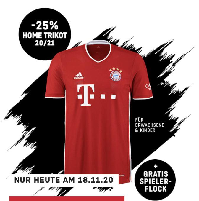 FC Bayern Home Trikot 20/21 - 25% Rabatt + Spielerflock