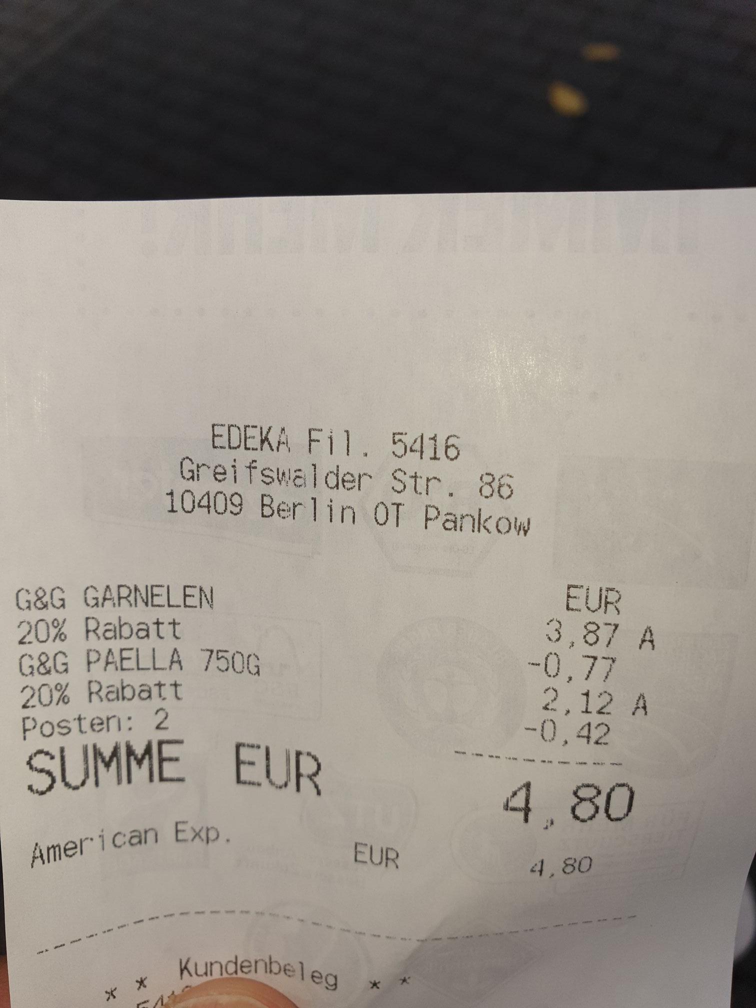 (LOKAL EDEKA Berlin-Greifswalder Str.) 20% Rabatt auf G&G TK-Produkte
