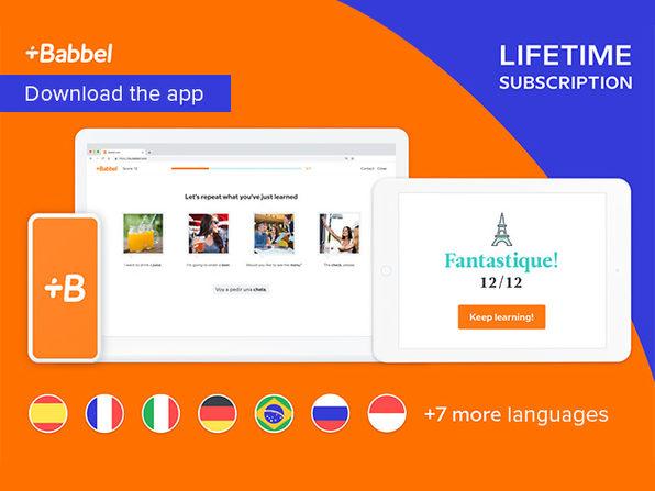 Babbel - Alle Sprachen - Lifetime Lizenz (99Jahre)