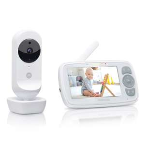Motorola Ease 34 Babyphone mit Kamera 4,3 Zoll Video Baby Monitor HD Display - Nachtsicht, Bidirektionale Kommunikation, Wiegenlieder, Zoom