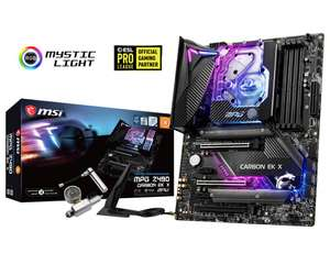 MSI MPG Z490 Carbon EK X - ATX Mainboard (Intel Z490, LGA1200-Sockel, USB-C 3.2, 2,5 Gigabit LAN, Wi-Fi, Bluetooth, RGB)