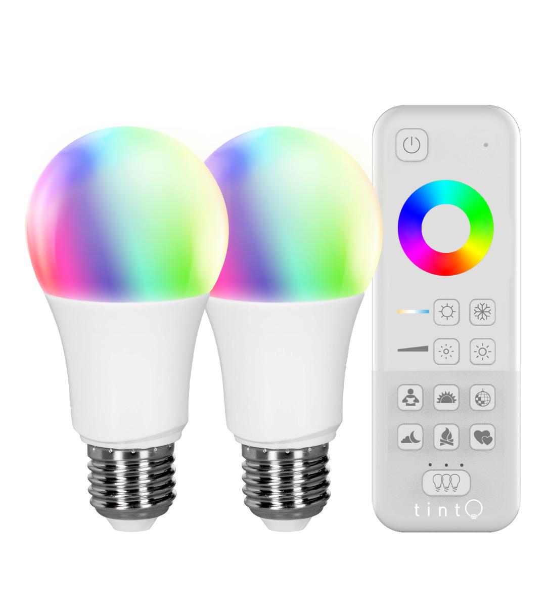 [4 Lampen] Tint Müller Licht Doppelpack mit Fernbedienung [2×Doppelpack da Versandkosten Ersparnis]