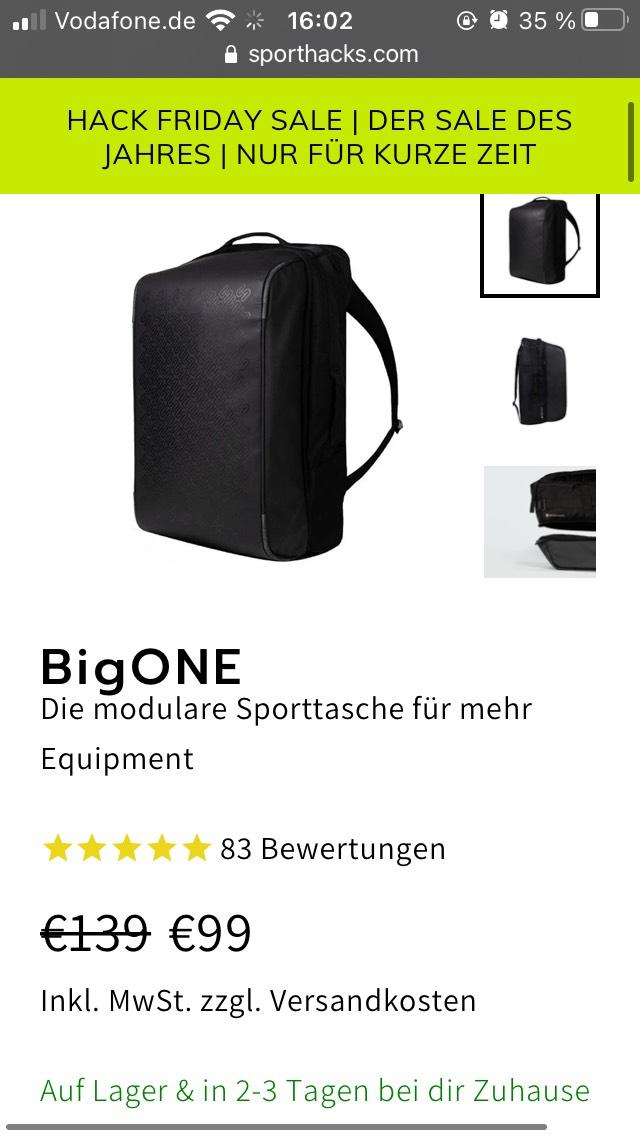 """Sporthacks """"bigone"""" und mehr: Sale bis zu 30% Rabatt"""