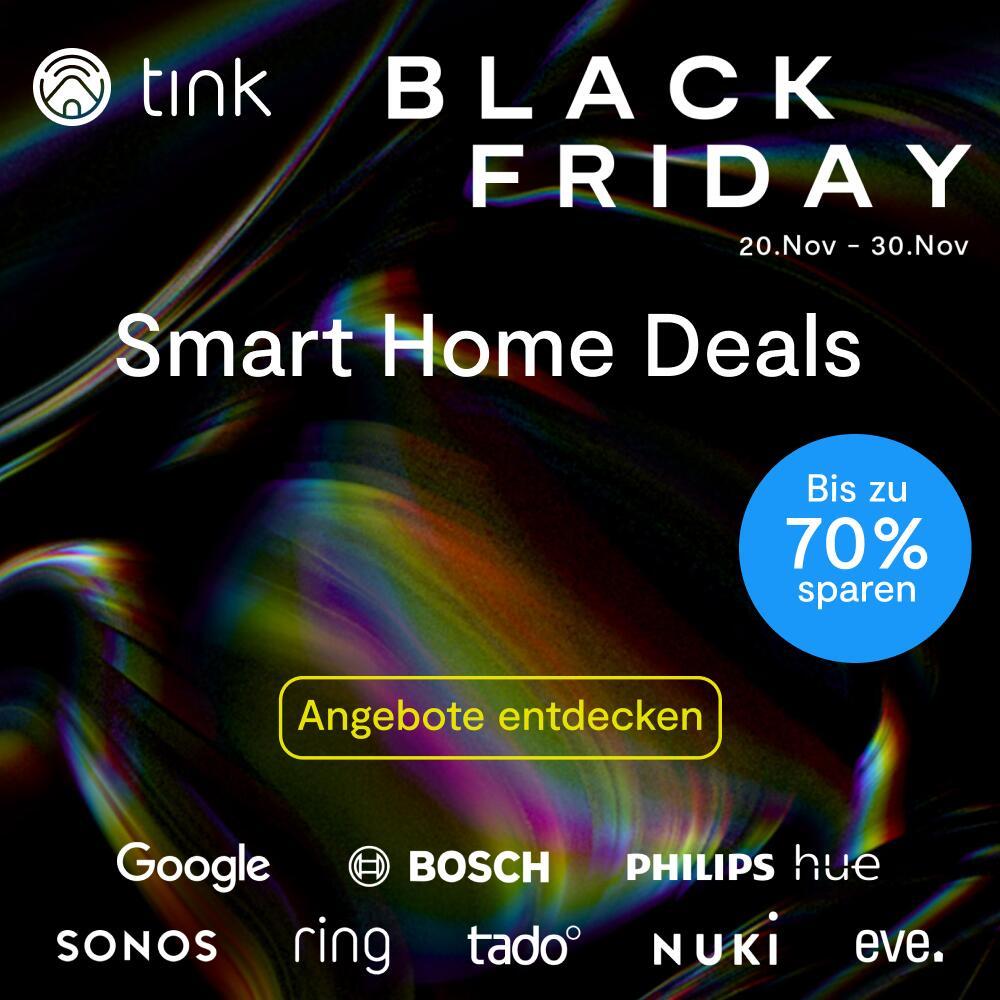 Black Friday bei tink - Die Highlights: zB. Google Nest Mini 2er Pack für 39€ | Google Nest Hub 2er-Pack für 89,95€ statt 138€ uvm.