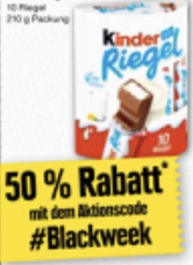 Lokal Edeka/Marktkauf Nord: 50% Rabatt auf Kinder Riegel mit Genuss+ App / 10er Packung 210g für ca. 0,91€ möglich!