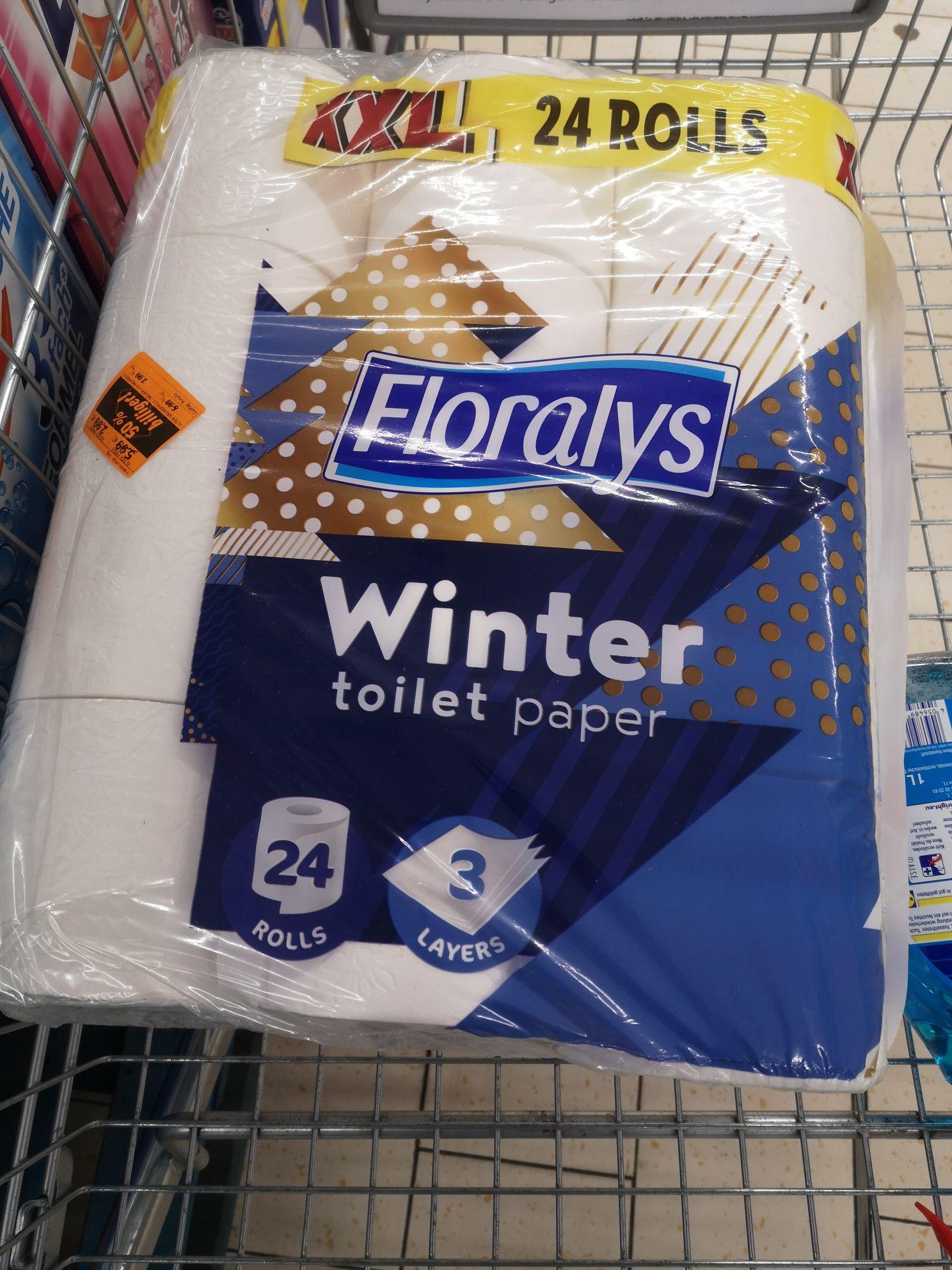 (Lokal) Floralys 3 Lagig Winter Toilettenpapier 24 Rollen 2,99€ statt 5,99 Lidl in Haan Ost