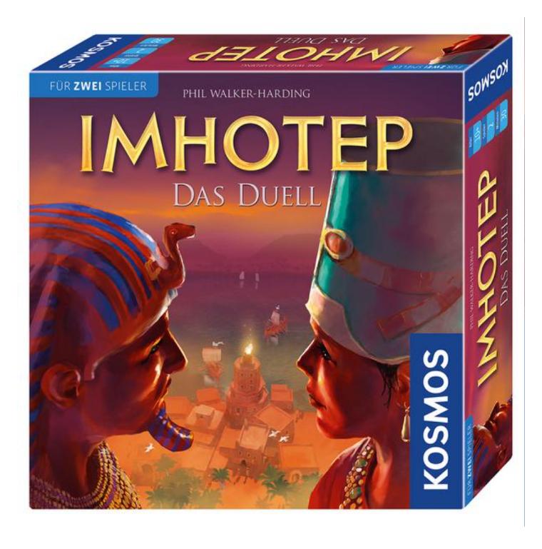 2-Spieler-Brettspiele: Imhotep Das Duell - Catan Das Duell - Aqualin [Thalia KultClub]