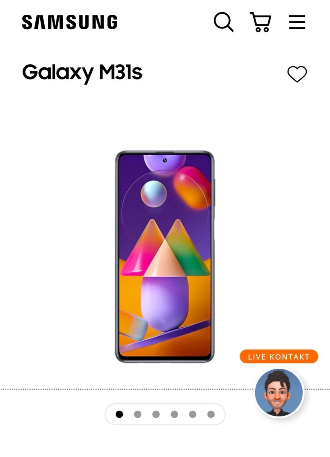 Samsung Galaxy M31s in schwarz oder blau / 128GB