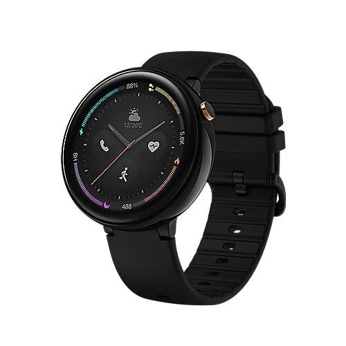 Amazfit Nexo Smartwatch Keramik-Gehäuse, schwarz, Amoled-Display [Cyberpor