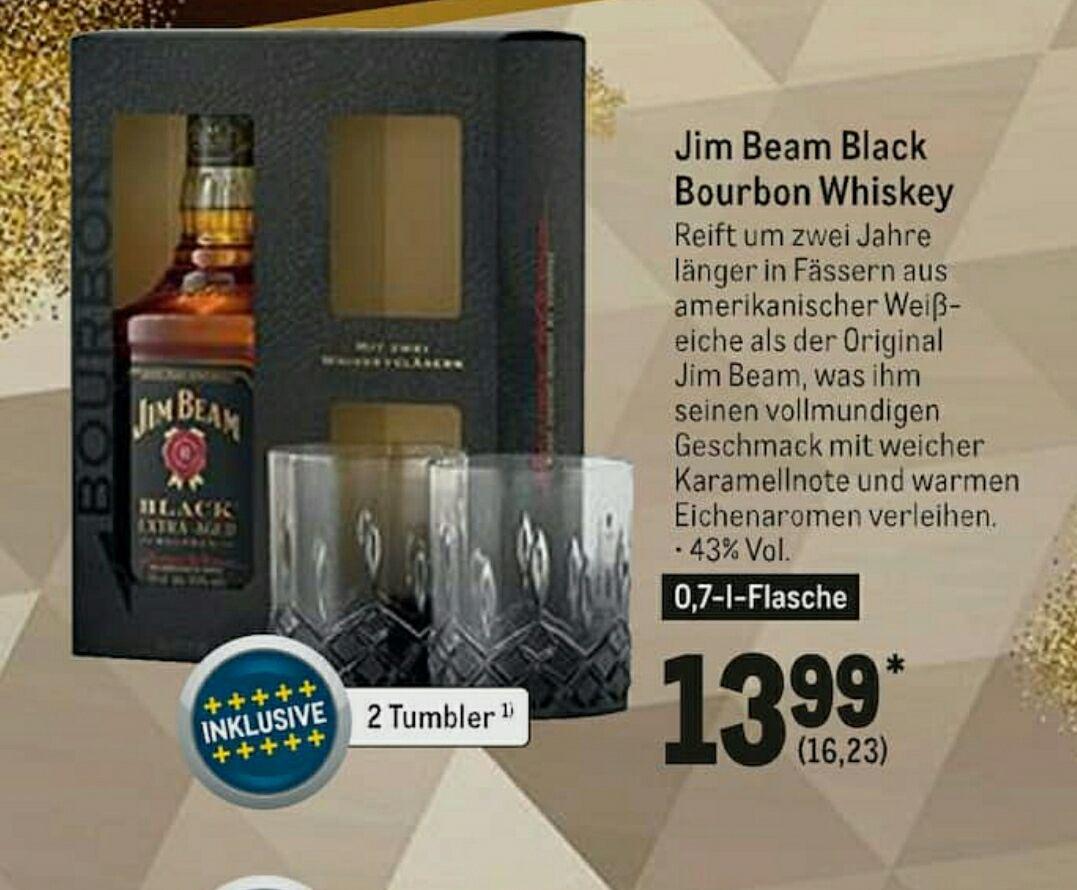 Jim Beam Black inklusive 2 Tumbler (METRO)