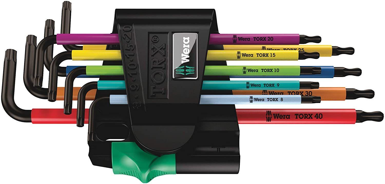 Wera Winkelschlüsselsatz 967 SPKL/9 TORX BO Multicolour, BlackLaser, 9-teilig, 05073599001