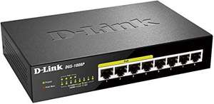 D-Link DGS-1008P 8-Port Layer2 Gigabit Switch 4x PoE schwarz unmanaged