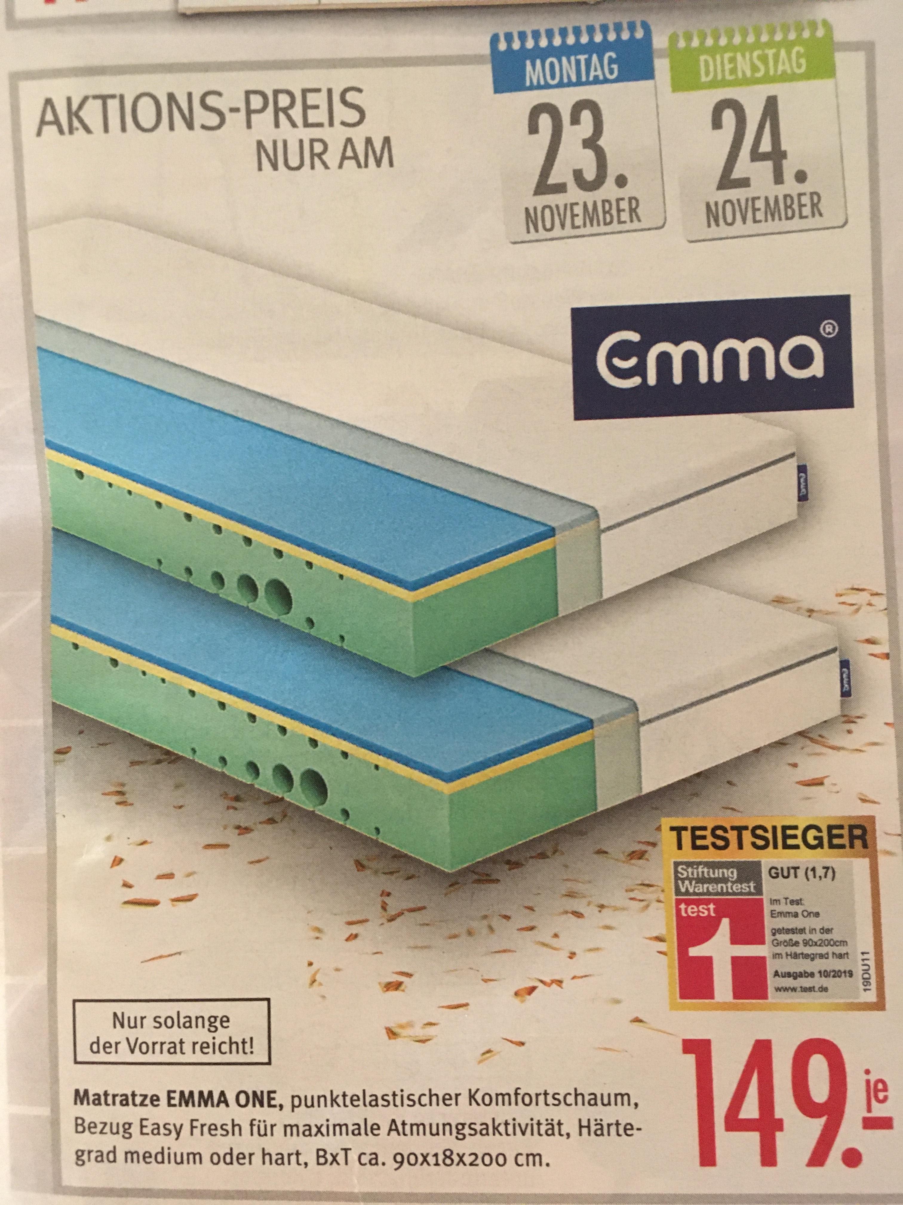 [lokal NRW] Matratze Emma One 90x200