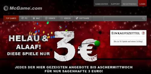 McGame.com Games für 3,00€  (DRM Steam/und OHNE Steam