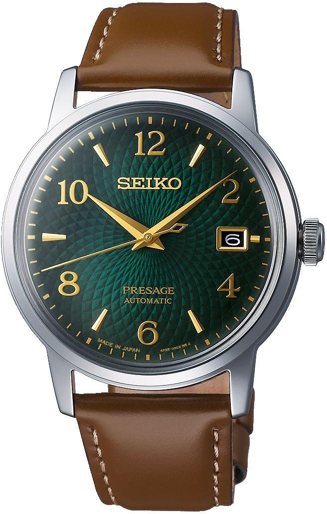 Seiko Presage Automatik Uhr Cocktail Time Grün SRPE45J1 (4R35, 39mm, Sammeldeal)
