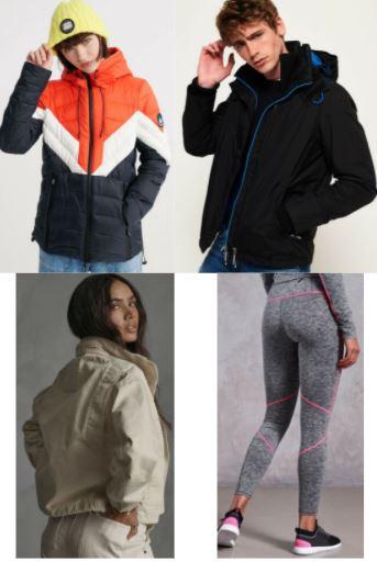 Superdry eBay-Angebote, zB.: Damen Eclipse Jacke (Bild oben links)