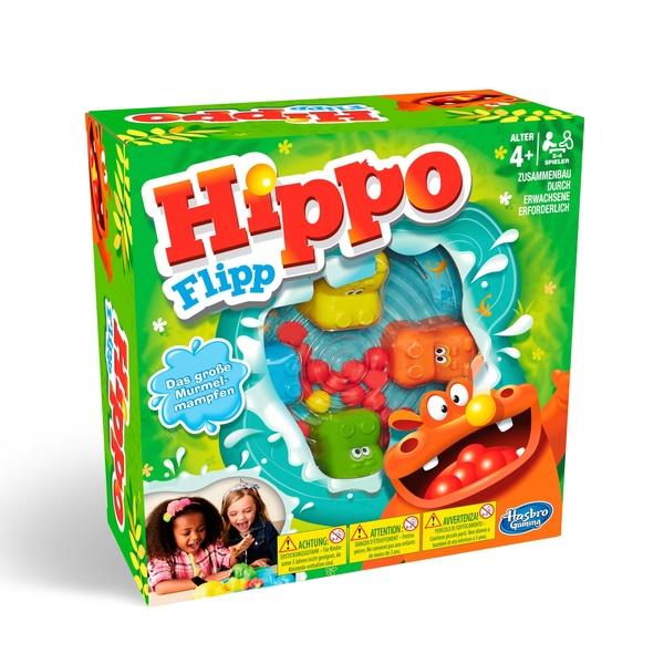 Gesellschaftsspiel: Hippo Flipp von Hasbro, für Kinder ab 4 Jahren