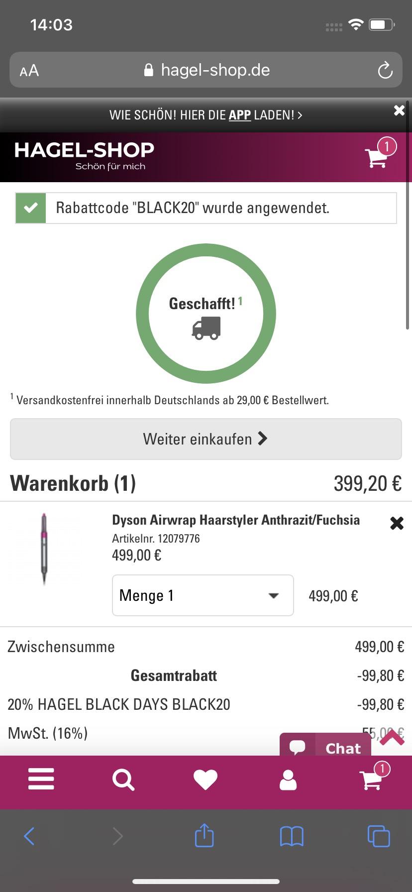 Dyson Air Wrap bei Hagel für 399,20€