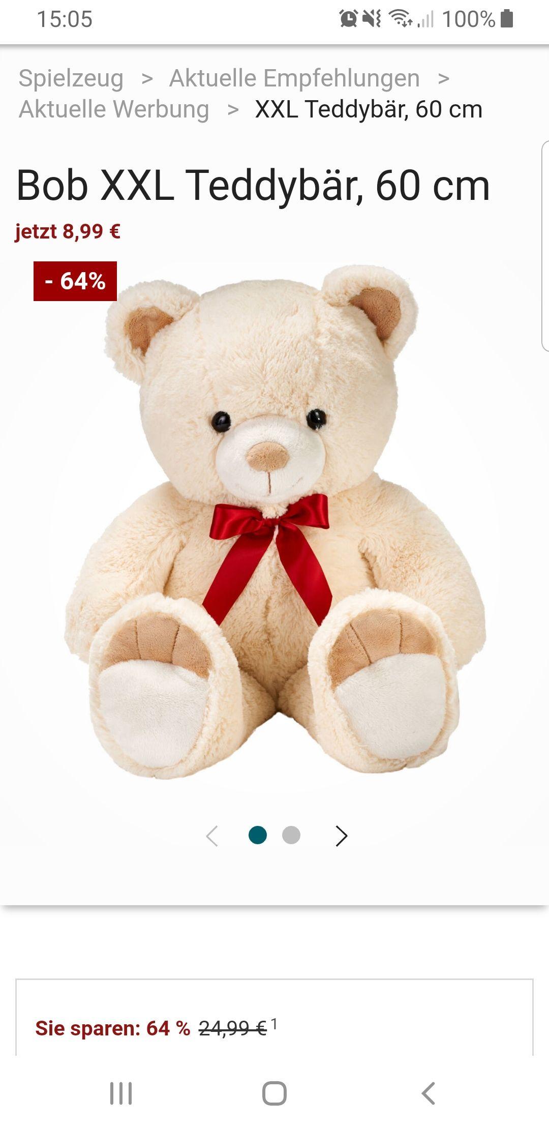 XXL Teddybär 60cm 8,99€