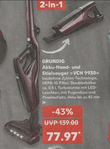KAUFLAND - GRUNDIG Akku-Hand- und Stielsauger VCH9930