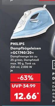 KAUFLAND - PHILIPS Dampfbügeleisen GC1740/20