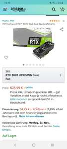 PNY GeForce RTX™ 3070 8GB Dual Fan Grafikkarte