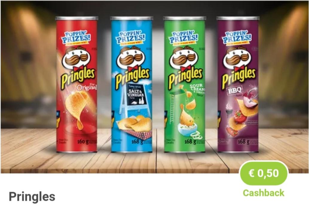 1 × 0,50€ Cashback beim Kauf von Pringles & 1 × 0,50€ Cashback Kuchenmeister Koala [marktguru]