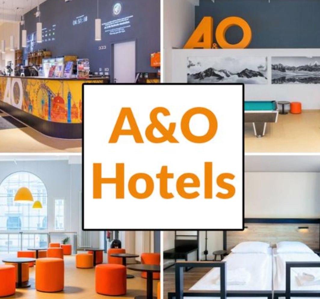 A&O Hotels + 20€ FlixBus Gutschein (36 Hotels, 21 Städte): 3 Tage / 2 Nächte für 2 Personen (DZ + Frühstück)