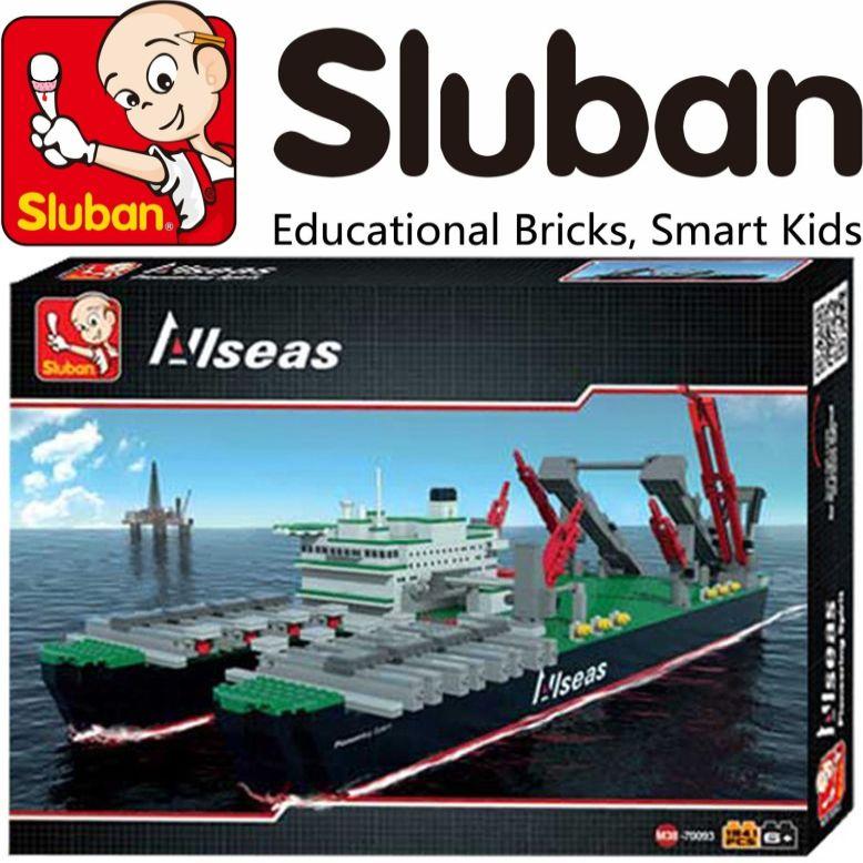 [Klemmbausteine] Schwergut-Arbeitsschiff Pioneering Spirit von Sluban (M38-70093B) @ Modellbau Härtle