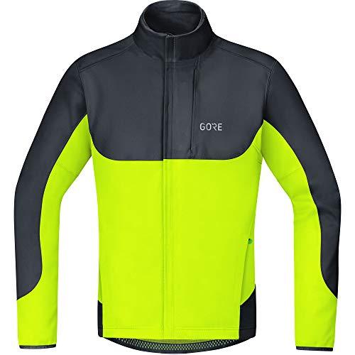 GORE WEAR C5 Herren Fahrrad-Jacke GORE WINDSTOPPER, S bis XL, Schwarz/Neon-Gelb / Dunkelgrau/Schwarz / Rot/Schwarz
