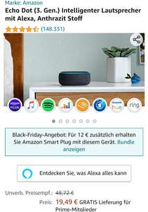 Amazon/Saturn Echo dot 3. Gen.