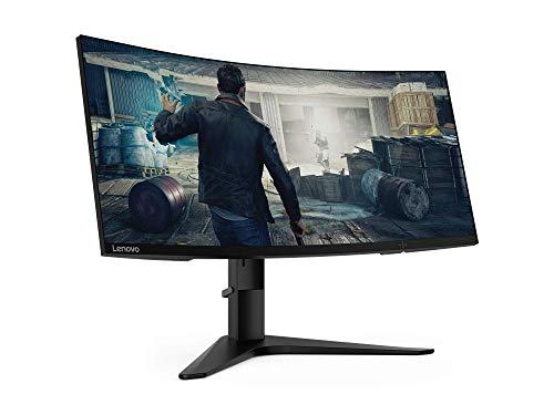 Lenovo G34w-10 86,4 cm (34 Zoll, 3440x1440, QHD, 144Hz, entspiegelt) Monitor (HDMI, DisplayPort, 4ms Reaktionszeit, AMD Radeon FreeSync) s