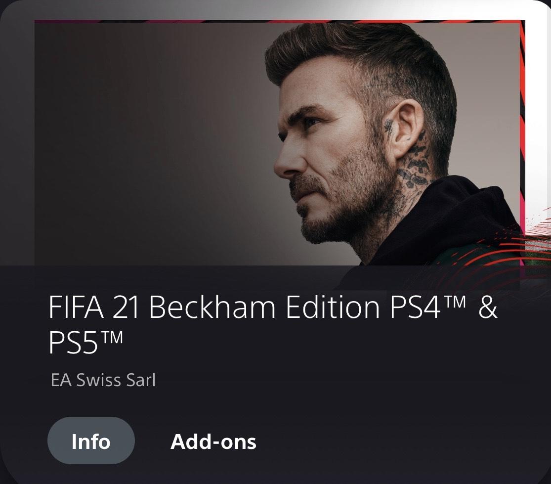 [PSN-Store] FiFA 21 Beckham Edition PS4/PS5