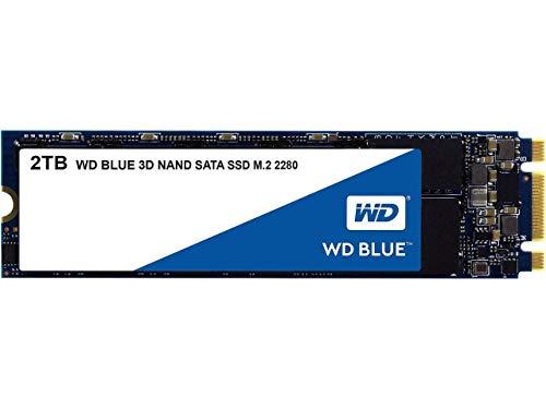 Western Digital WD Blue 3D 2TB (M.2 2280, SATA, R560MB/s, W530MB/s, 3D-NAND TLC, 1GB DDR3L-Cache, 500TBW / 5 Jahre Garantie)