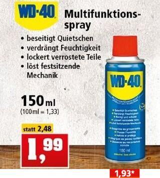 WD-40 Multifunktionsspray 150ml Dose