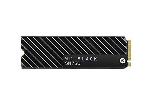 Western Digital Black SN750 NVMe 2TB Heatsink (M.2 2280, 3D-NAND TLC, R3400MB/s, W2900MB/s, 2GB LPDDR4 Cache, 5 Jahre Garantie/1.2PBW)